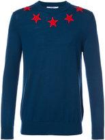 Givenchy star appliqué jumper - men - Wool - S