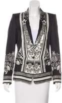 Roberto Cavalli Structured Patterned Blazer