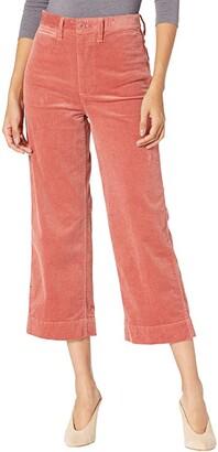 Madewell Slim Emmett Wide-Leg Pants in Corduroy (Rose Dust) Women's Casual Pants