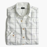 J.Crew Slim slub cotton shirt in windowpane