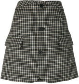 Helmut Lang houndstooth skirt - women - Cotton/Viscose/Wool - 6