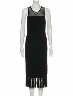 Grey By Jason Wu Crew Neck Midi Length Dress w/ Tags Grey