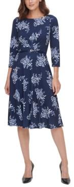 Harper Rose Printed Fit & Flare Midi Dress