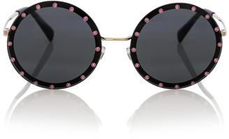 Valentino embellished round sunglasses