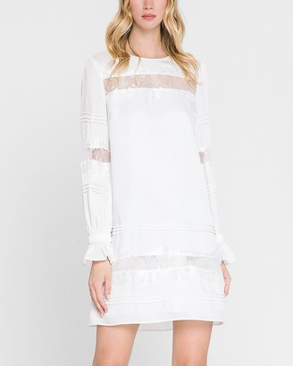 Express Endless Rose Long Sleeve Lace Detail Dress