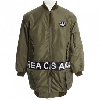 Andrea Crews Khaki Polyester Jackets