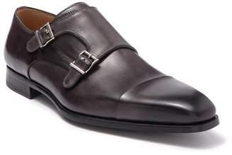 Magnanni Alberto Grey Leather Monk Strap Loafer
