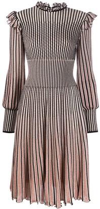 Alexander McQueen striped knitted dress