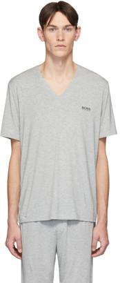 BOSS Grey Jersey V-Neck T-Shirt