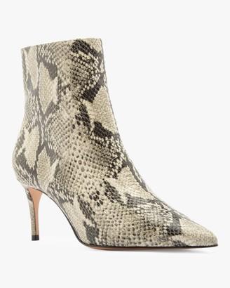 Schutz Bette Snake Embossed Ankle Boot