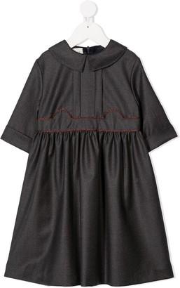 Gucci Kids Long Sleeve Wool Dress