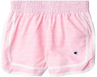 Champion Kids All Over Print Woven Shorts (Big Kids) (Pindy Candy) Girl's Shorts