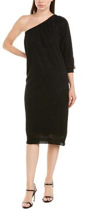 Brunello Cucinelli Linen & Silk-Blend Sheath Dress