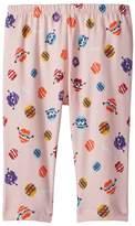 Fendi Fur Monster Print Leggings Girl's Casual Pants