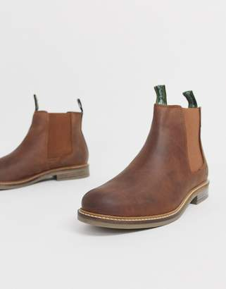 Barbour Farsley leather chelsea boots in tan