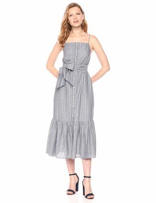 The Fifth Label Women's Pixel Sleeveless Striped Buttondown Midi Dress