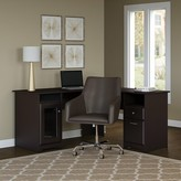 Hillsdale L-Shape Desk and Chair Set Red Barrel Studio Color: Espresso Oak