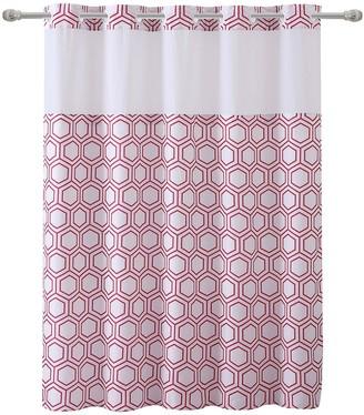 Hookless Metro Hex Shower Curtain