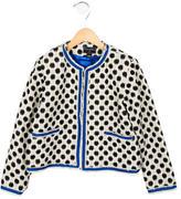Oscar de la Renta Girls' Star Checked Tweed Jacket w/ Tags