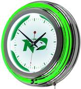 Dakota North Chrome Double-Ring Neon Wall Clock