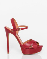 Le Château Brazilian-Made Leather Criss-Cross Sandal