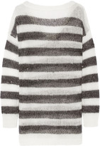 Karl Lagerfeld Striped Knitted Sweater - Black