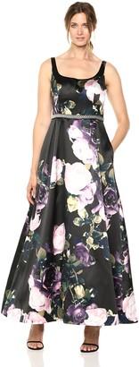 Ignite Women's Floral Printed Ballgown Dress