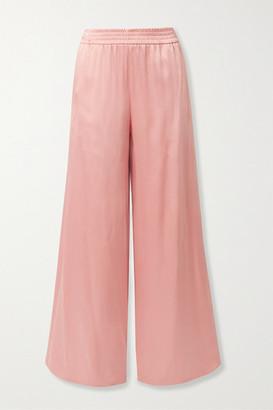 LAPOINTE - Satin-crepe Wide-leg Pants - Blush