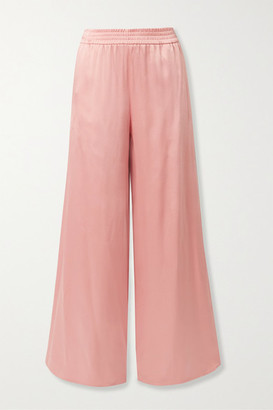 Sally LaPointe Satin-crepe Wide-leg Pants - Blush