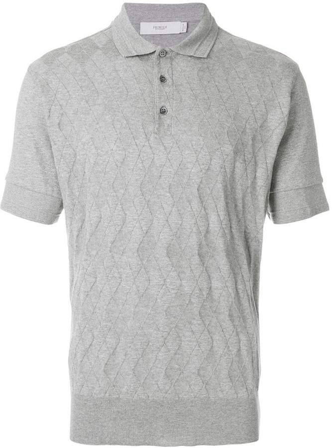 Pringle argyle pattern polo shirt
