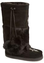 Manitobah Mukluks Women's 'Snowy Owl' Genuine Fur & Suede Mukluk