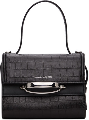 Alexander McQueen Black Croc The Story Bag
