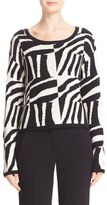 Max Mara Geremia Graphic Silk & Cashmere Sweater