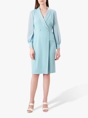 Hobbs Lana Tux Dress, Aqua