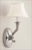 The Well Appointed House Polished Nickel Solid Brass One-Light Electrified Wall Sconce