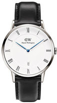 Daniel Wellington Dapper Sheffield Stainless Steel and Leather Strap Watch, 38mm