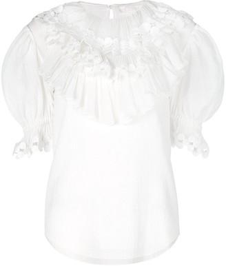 Chloé frilled medallion blouse