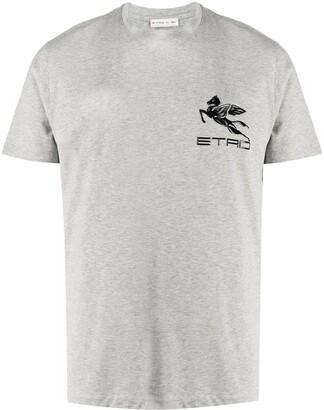 Etro embossed logo cotton T-shirt
