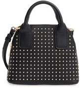 Sole Society Amalia Studded Dome Faux Leather Satchel - Black
