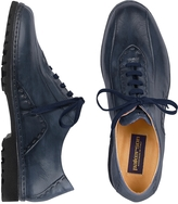 Pakerson Blue Italian Handmade Leather Lace-up Shoes