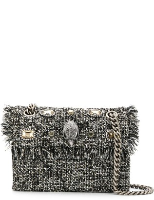 Kurt Geiger tweed mini Kensington crossbody bag