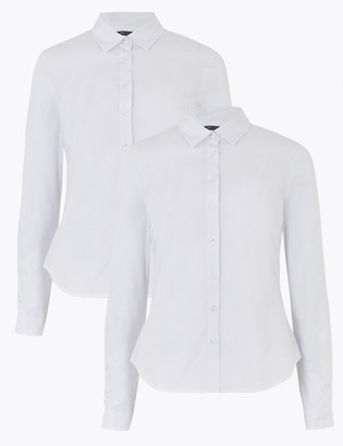 Marks and Spencer 2 Pack Cotton Fitted Shirts