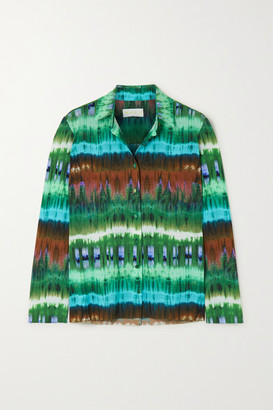 MARCIA Paris Tie-dyed Stretch-jersey Shirt - Green