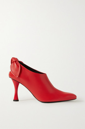 Proenza Schouler Knotted Leather Pumps - Red