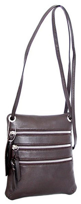 Nino Bossi Handbags Women's Handbags Chocolate - Chocolate Carolina Leather Crossbody Bag
