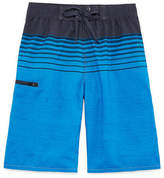 Burnside Forever Blue Stripe Swim Trunks-Boys 8-20