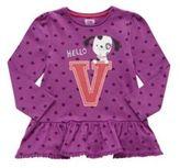 F&F Letter V Peplum Long Sleeve T-Shirt, Toddler Girl's