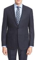 Armani Collezioni Men's Classic Fit Houndstooth Wool Blend Sport Coat