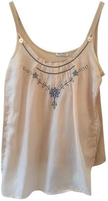 Miu Miu Beige Cotton Top for Women