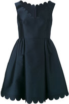 RED Valentino scalloped detail flared dress - women - Silk/Polyester/Acetate - 42